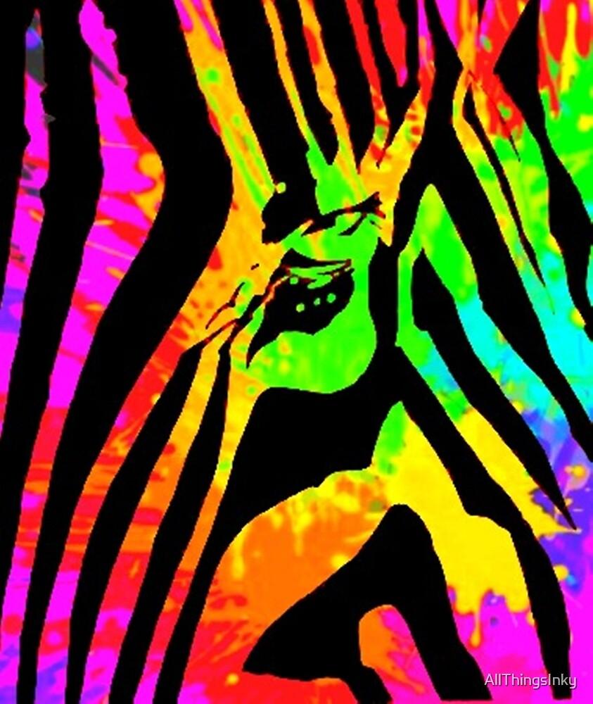 Psychedelic Zebra  by AllThingsInky