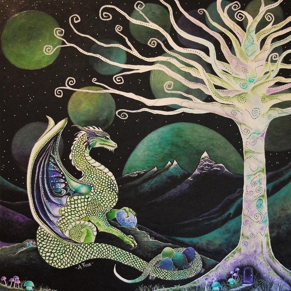 """Mother Dragon"" by AmandaFossArt"