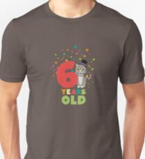 Six Years sixth Birthday Party Cat Rl9fe Unisex T-Shirt