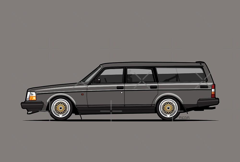 Connor's Volvo 240 Gray Wagon by Tom Mayer