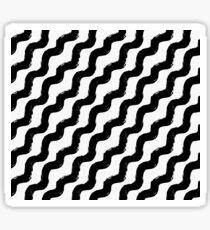 Painted Wave Pattern Diagonal Sticker