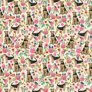 Airedale Terrier Dog florals pattern dog breed customized pet portrait by pet friendly by PetFriendly