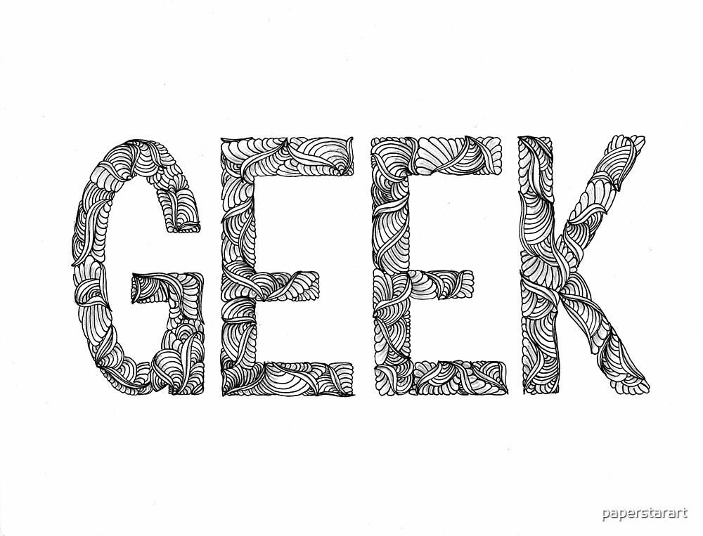 GEEK: Free-Hand Lettering by paperstarart