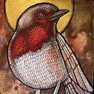 Morning Glory Robin by Lynnette Shelley