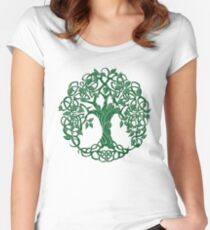 Tree of life Green Women's Fitted Scoop T-Shirt