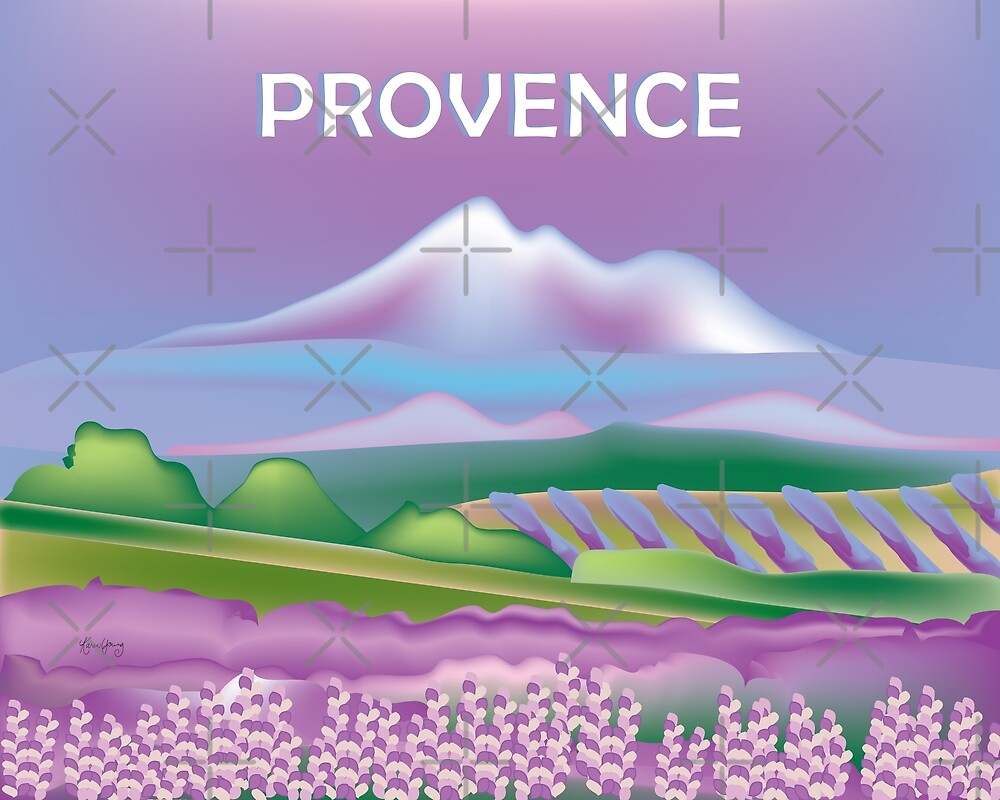 Provence, France - Skyline Illustration by Loose Petals by LoosePetals