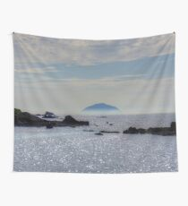 Ailsa Craig in Mist Wall Tapestry