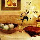 Apples and Pears in a Hallway by Sarah Vernon