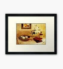 Apples and Pears in a Hallway Framed Print