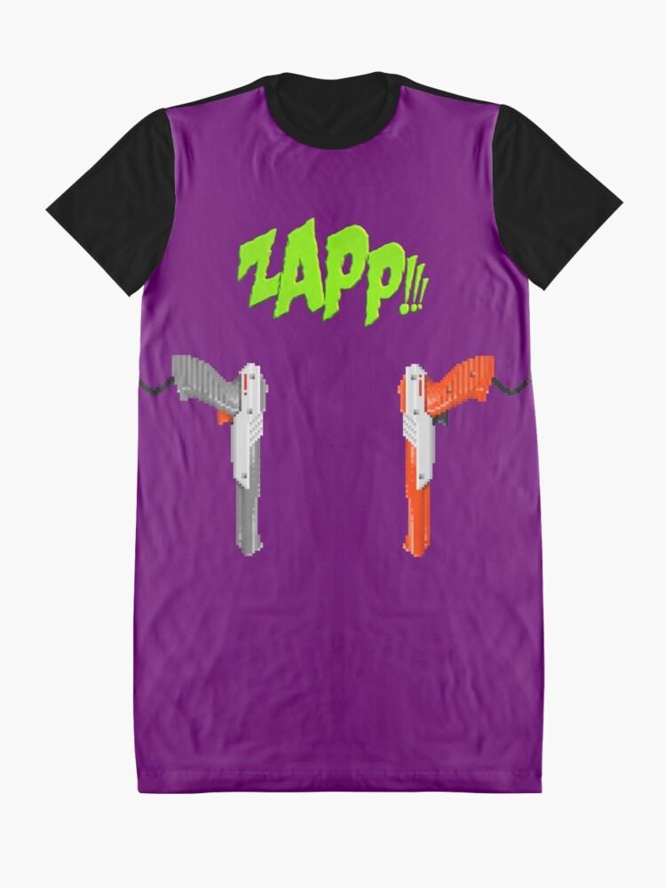 Alternative Ansicht von ZAPP !!! [Pixel Kunst] T-Shirt Kleid
