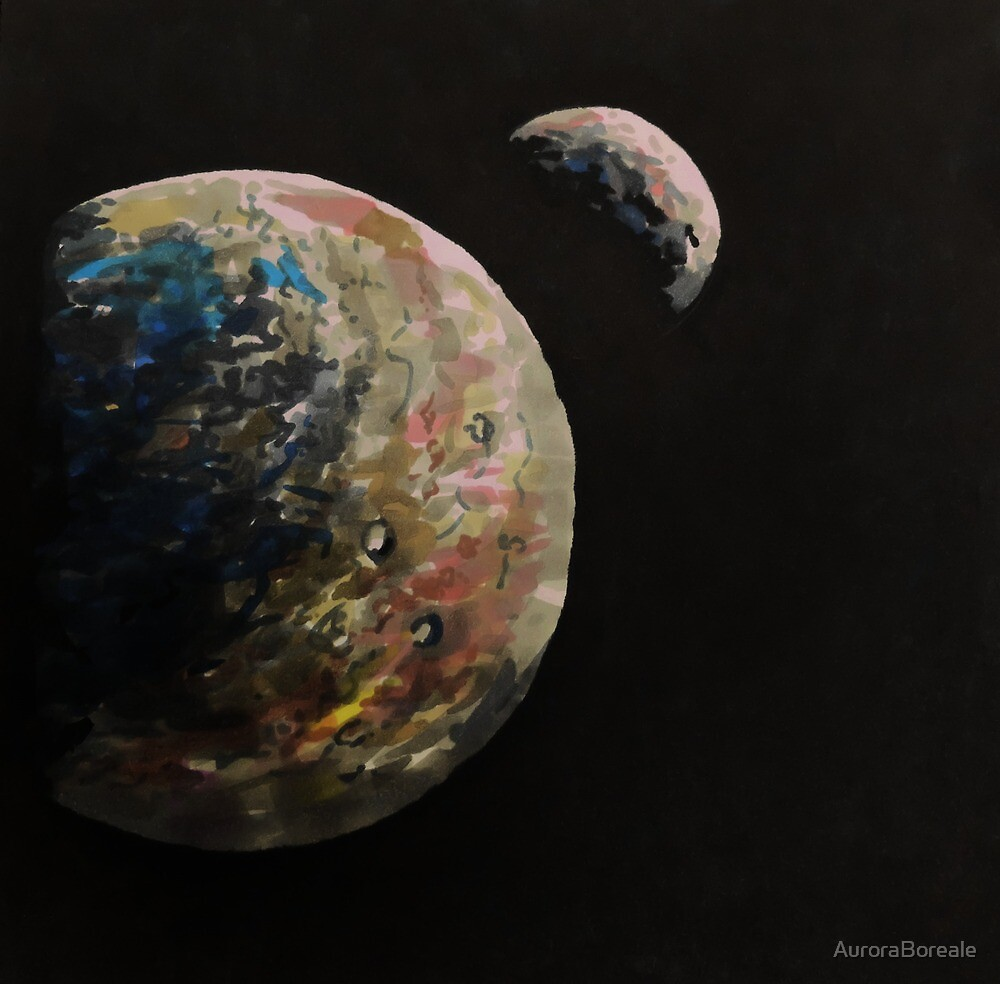 An exoplanet and its satellite by AuroraBoreale