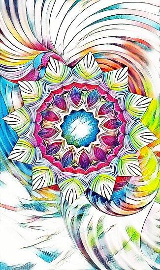 Sunshine Feeling Mandala by DesignWorlds