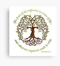 Tree of Life - Proverbs 11:30  Canvas Print