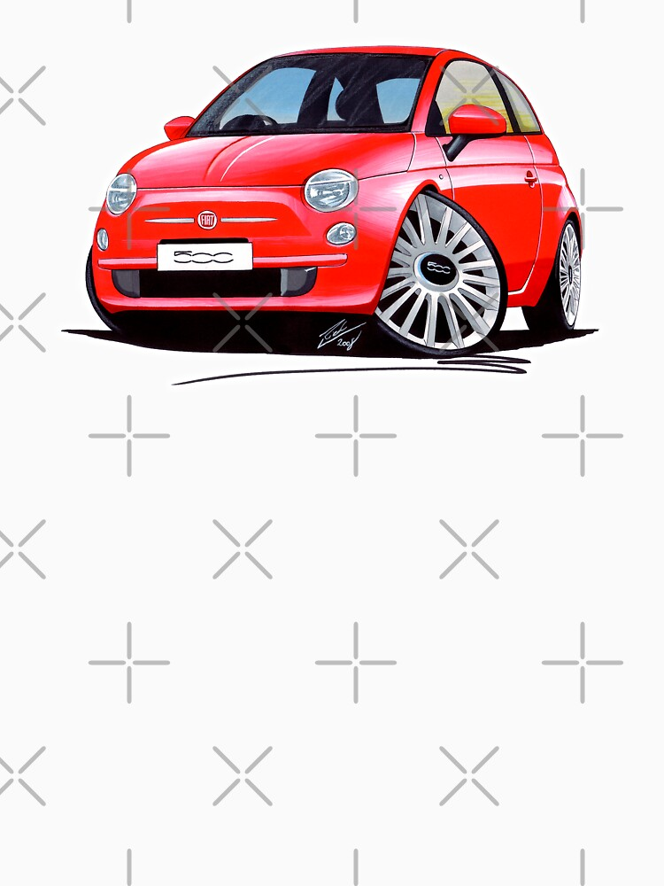 New Fiat 500 Red by yeomanscarart