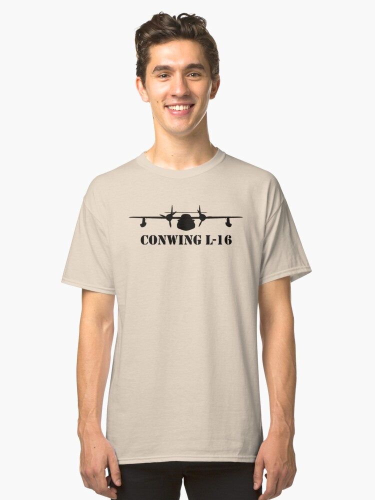 Sea Duck Conwing L-16 Airplane Classic T-Shirt Front