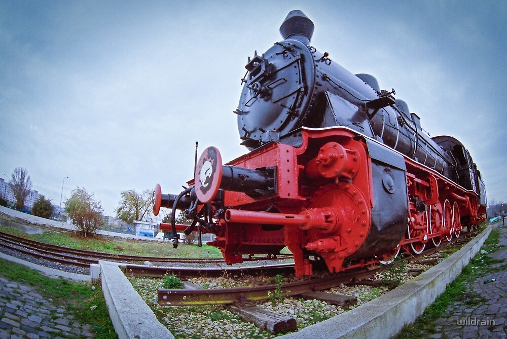 Old Steam Locomotive Close Up by wildrain