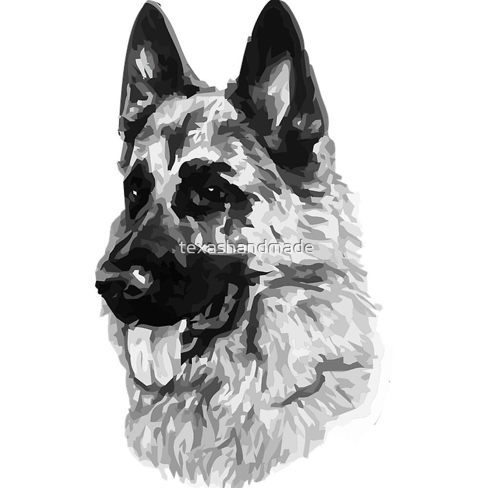 German Shepherd dog lovers by texashandmade