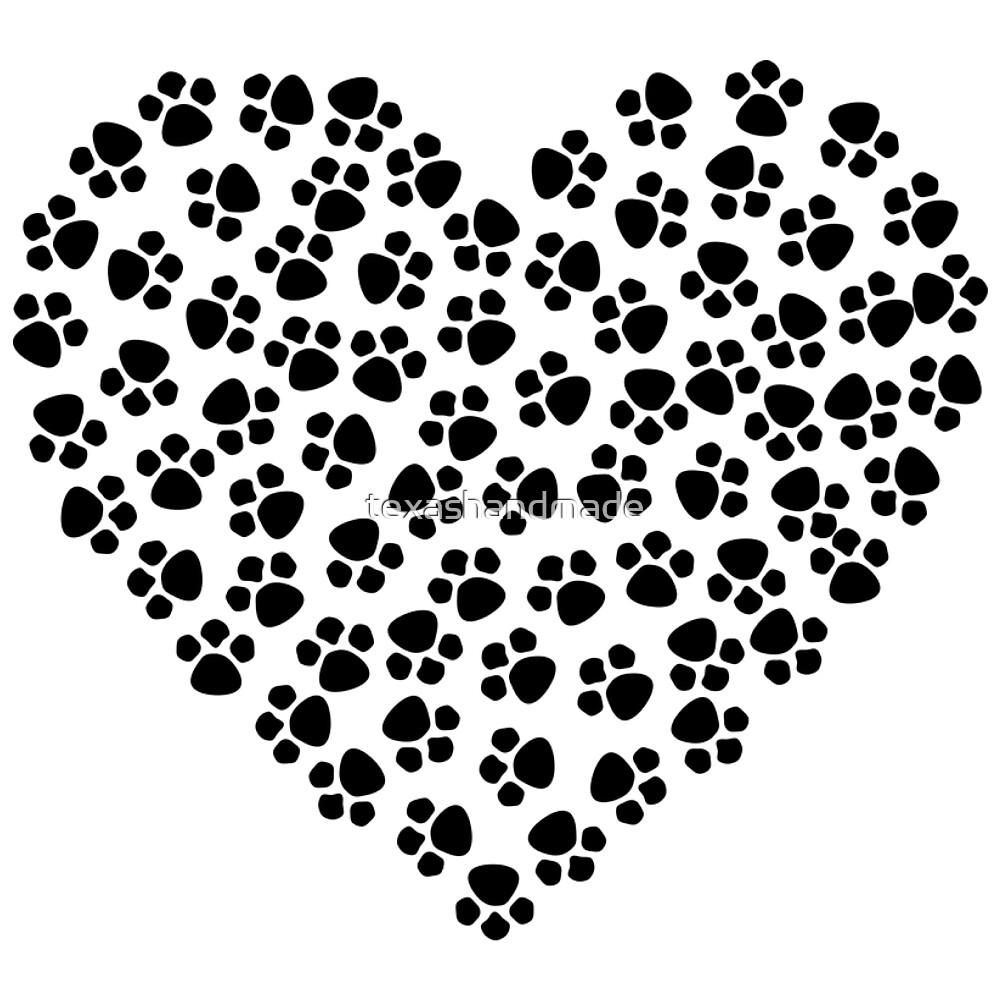 Dog lovers heart  by texashandmade