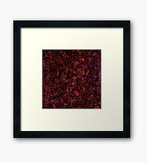 Red Rust Galaxy Texture  Framed Print