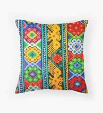 Colourful Mexican Bracelets  Throw Pillow