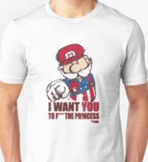 Uncle Mario - I Want You To F*** The Princess Unisex T-Shirt