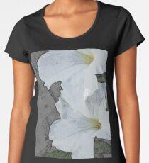 Lilies in Pencil Women's Premium T-Shirt