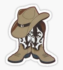 Country Time Boots and Hat Sticker