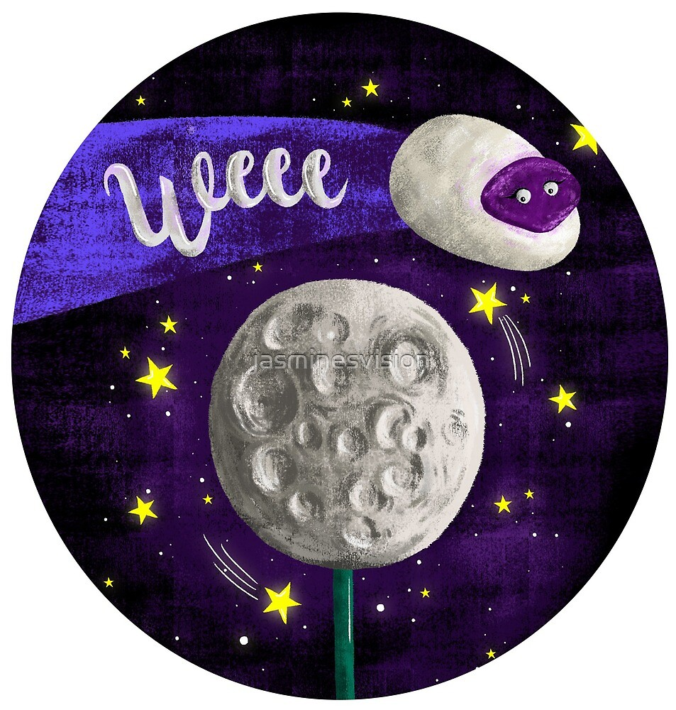 LUSH COSMETICS INSPIRED - Moon on a stick/ baa bar  by jasminesvision
