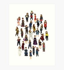 Every Clara Outfit Ever | S7 Art Print