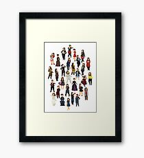 Every Clara Outfit Ever | S7 Framed Print