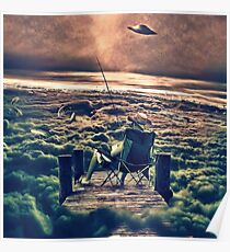 Fishing Above the Clouds Poster