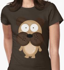 Bob the Dog Womens Fitted T-Shirt