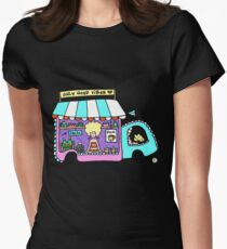 Happy Food Truck! Womens Fitted T-Shirt