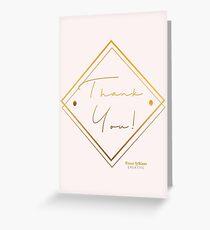 Thank You- elegant Greeting Card