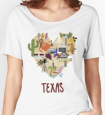 I Love Texas Southern Merch Women's Relaxed Fit T-Shirt