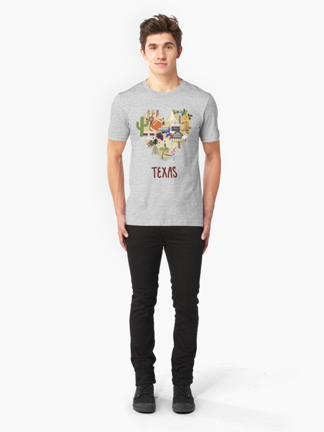Alternate view of I Love Texas Southern Merch Slim Fit T-Shirt