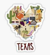 I Love Texas Southern Merch Sticker