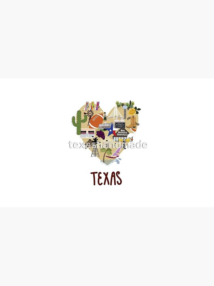 I Love Texas Southern Merch by texashandmade