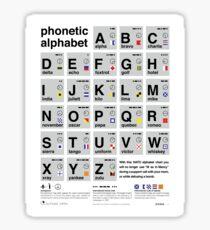 Nato Phonetic Alphabet Sticker