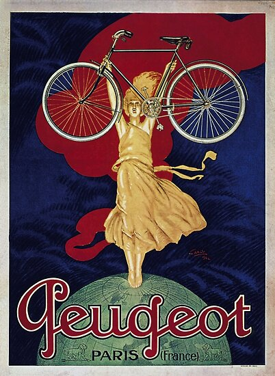 old retro vintage Bicycle poster by Khokhloma