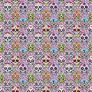 Day of the Dead Skull T Shirt Pink by Fangpunk