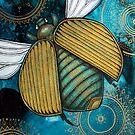 Gold Scarab by Lynnette Shelley