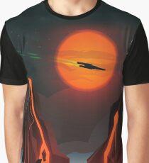 Sci-Fi Sunset Graphic T-Shirt