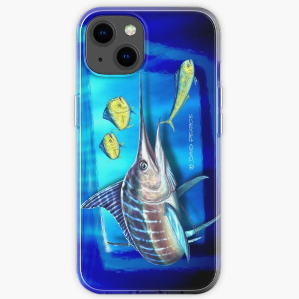 Striped Marlin & Dolphin fish iPhone Soft Case