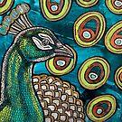 Peacock Blue by Lynnette Shelley