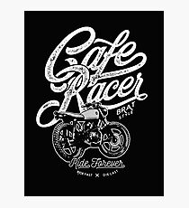 Cafe Racer, Motorcycle, Ride Forever Photographic Print