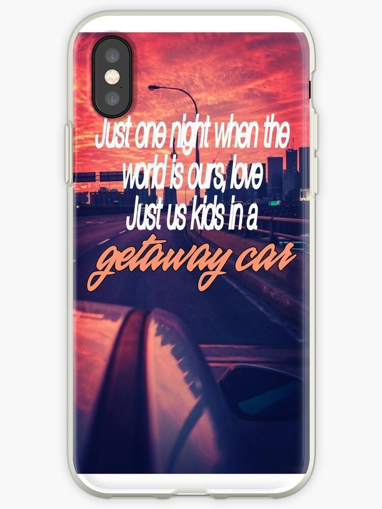 "Lea Michele ""Getaway Car"" Lyrics Phone Case by BeckalouDarling"