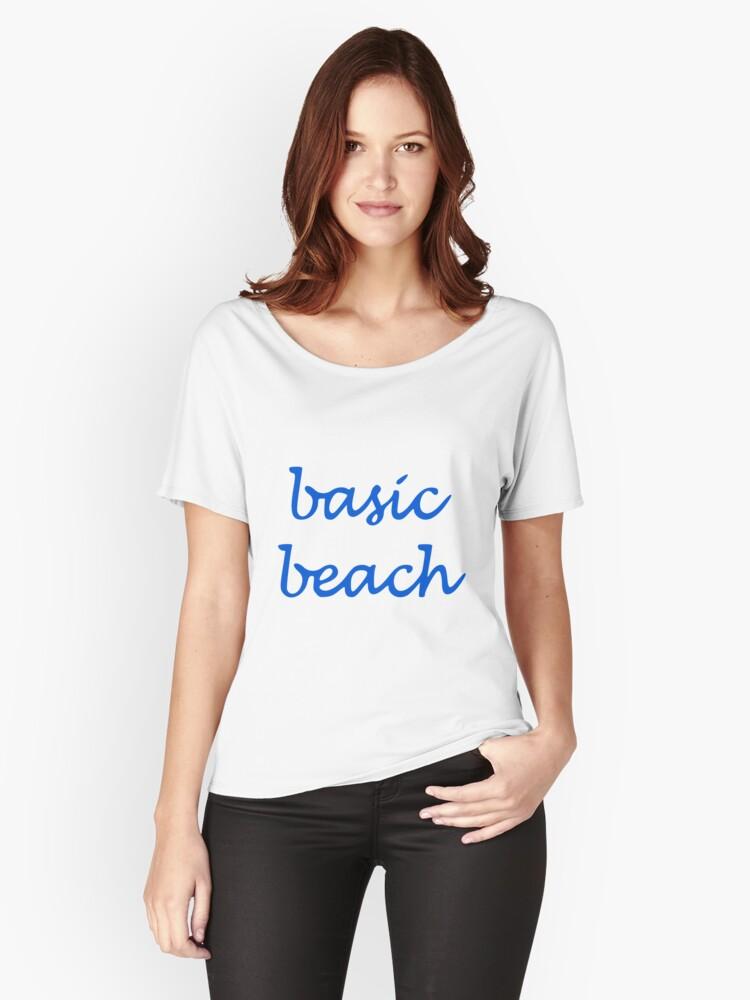 Basic Beach Women's Relaxed Fit T-Shirt Front