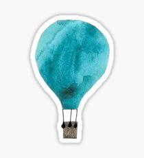 water color hot air balloon Sticker