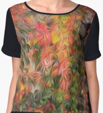 Ivy showing its autumn colours oil paint effect Chiffon Top